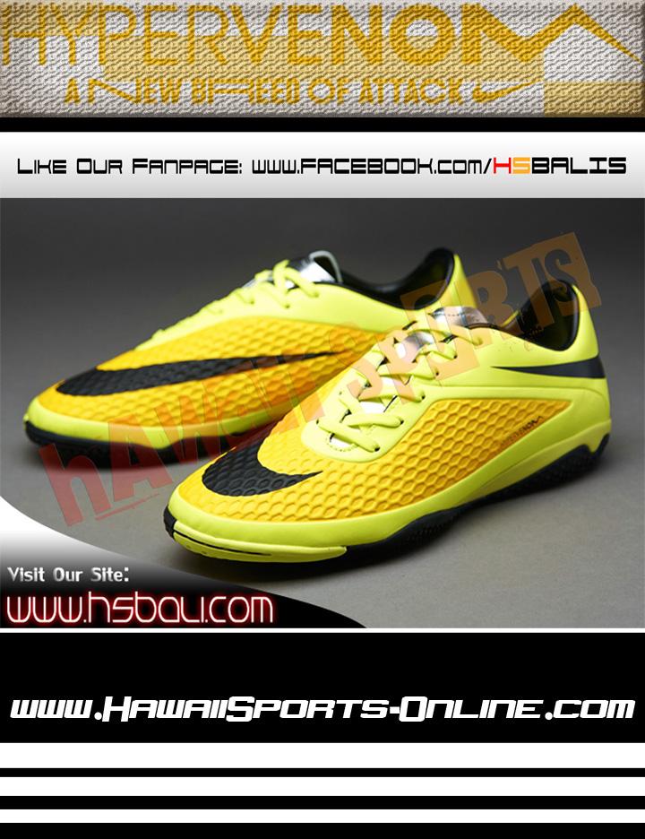 ... Sepatu Futsal Original Nike Hypervenom Phelon IC Yellow/Black/Volt (Indoor). ...