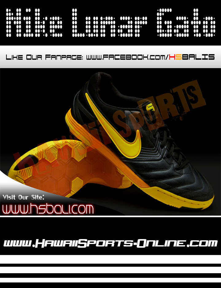 ... italy sepatu futsal original nike lunar gato ic black yellow gold  indoor. tweet 5a6f3 697d1 5a2f2bc4f9